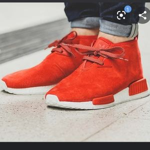 Adidas NMD chukka red suede size 10.5